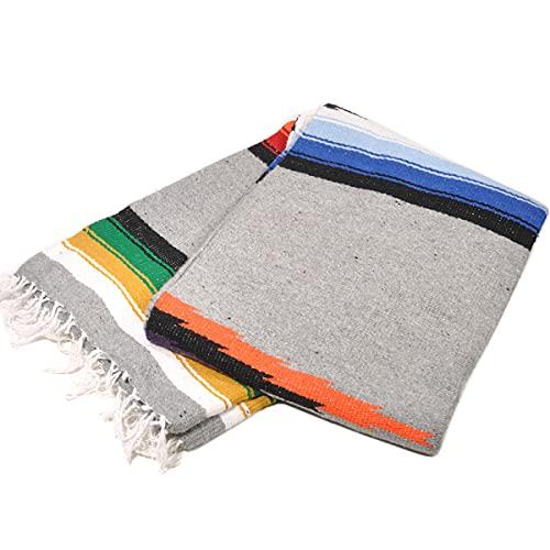 モリーナインディアンブランケット (Molina Indian Blanket) Mosaic Diamond Blanket/モザイクダイヤモンドブランケット[約204×142cm]GRAY/OBY