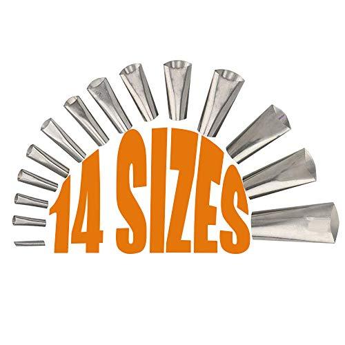 Sinwind 14 pcs Edelstahl Dichtungsdüse, Dichtungs-Dichtungsdüse aus rostfreiem Stahl, Abdichten Werkzeuge Finishing Tool Kit für die Abdichtung der Badezimmerküche