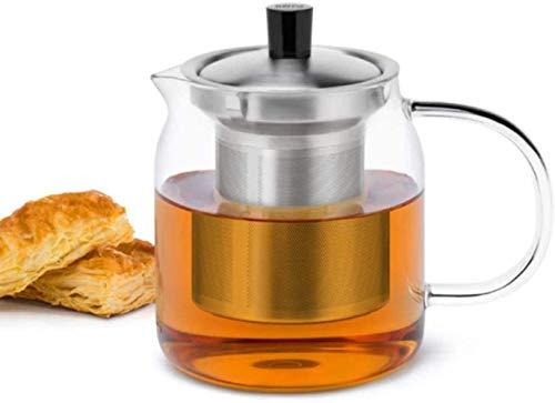 Peakfeng Tetera de la Tetera Tetera de Hierro Fundido 700ml Tetera de Vidrio Transparente con infusor de Acero Inoxidable y Tapa Tercer Transparente Tetera Resistente al Calor Tetera Accesorios de té