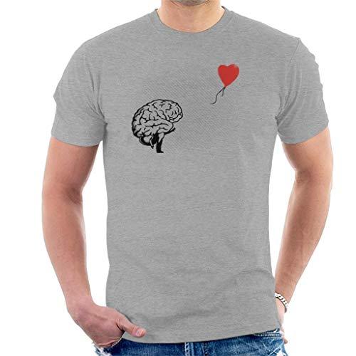 Brainsky Banksy Balloon Girl Brain Men's T-shirt