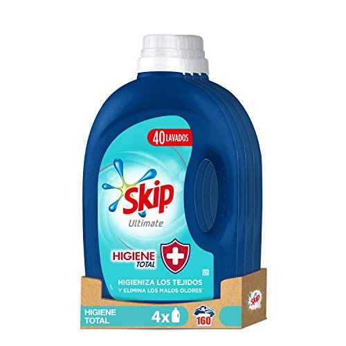 Skip Ultimate Detergente Liquido Higiene Total 4x40 lavados Lavados 2200 g - Pack de 4