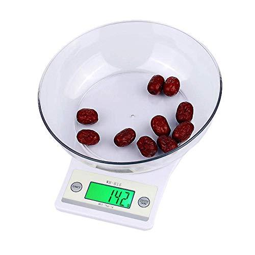 HJTLK 7Kg X 1G Escala multifunción Digital para Cocina/Alimentos LED Escalas electrónicas Digitales Balanza de medición para joyería de Cocina