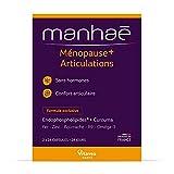 Manhaé Ménopause + : 28 capsules de Manhaé + 28 capsules de curcuma - Sans hormone - Mobilité articulaire Pré ménopause & ménopause - Vitavea Santé