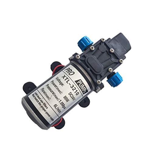Milageto Bomba Autocebante De Diafragma Eléctrica F/Riego De Limpieza - Negro-24v-80w - Rojo-12v-80w