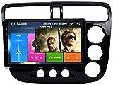 LYHY Car Stereo Car Radio Stereo 9 Pulgadas Android 8.1 Player Multimedia para Honda Civic (2001-2005) RHD navegación GPS Navi Audio Función de Pantalla Dividida (RAM 1G + ROM 16G)