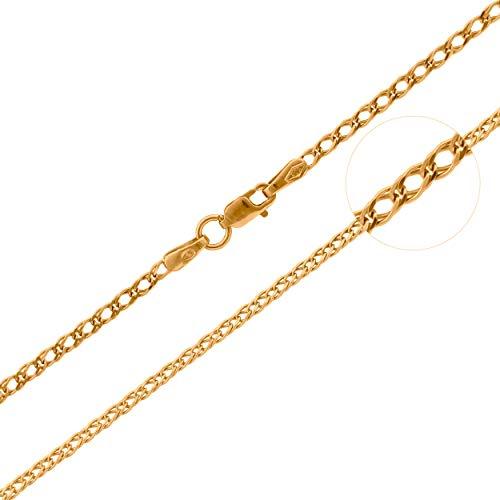 Lumarigold Gouden ketting 585 14k goud geelgoud Rombo 55cm gravure