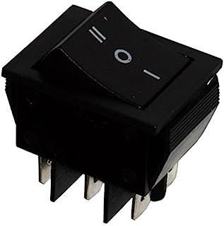 AERZETIX: Interruptor conmutador basculantes de boton DP3T ON-OFF-ON 15A/250V, 3 posiciones, Negro C10673