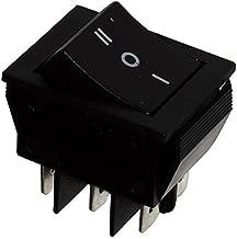 AERZETIX: Interruptor pulsador DP3T ON-OFF-ON 15A / 250V, 3 posiciones, negro C10673