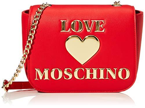 Love Moschino PU, Borsa da Donna, Rosso, Normale
