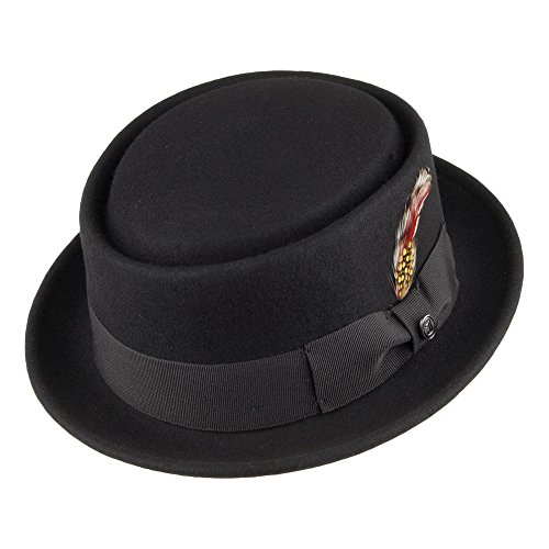 Jaxon & James Chapeau Pork Pie déformable Noir M