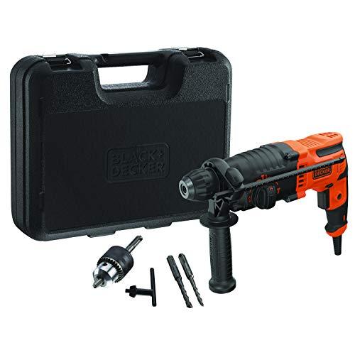 Black & Decker BEHS01K-QS Martello Tassellatore/Scalpellatore SDS+ 650W 1.4J in Valigetta, 650 W, 220 V