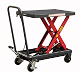 Pake Handling Tools - Hydraulic Manual Scissor Lift Table- Sturdy and Durable - 1000lbs Load Capacity