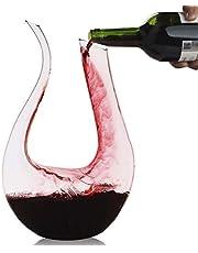Wijndecanteer,Smaier 1.2L U Vorm Klassieke Wijnbeluchter, Rode Wijnkaraf, Wijngeschenken, Wijnaccessoires