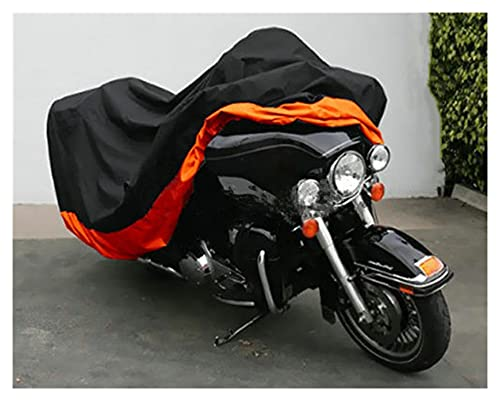 DJDEFK Copri Bicicletta XXXL. Cover Moto Arancione per Harley Davidson Street Glide Electra Glide Ultra Classic FLHTCU. Strada King Touring Honda GL