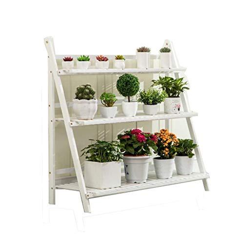 YINUO Étagère à fleurs Type de plancher en bois massif Pliant à l'intérieur Balcon sur plusieurs étages Salon Charnière (Size : 70x96cm)