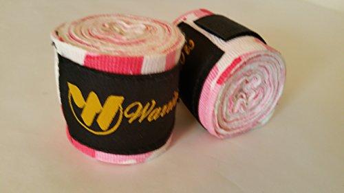 Pink Camo - 100% Cotton, Designer Hand Wraps MMA / Training - Warriors...
