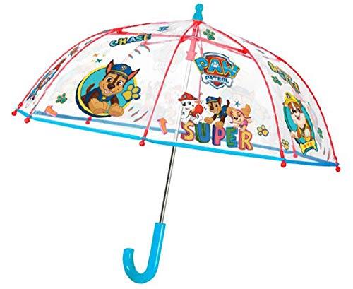 Pos Parapluie bâton avec Motif Paw Patrol, pour Enfants, diamètre env.66 cm, Ouverture de sécurité Manuelle et Cadre en Fibre Verre, Compagnon idéal Les Jours Pluie, Bunt