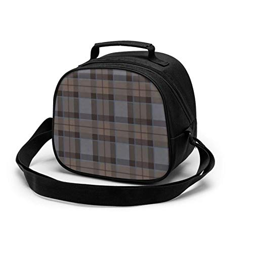 Outlander Fraser Tartan Plaid Insulated Lunch Bag Mini Cooler Thermal Meal Tote Kit with Handle for Girls,Boys School Travel Picnic
