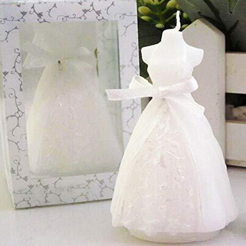 Belleza blanca nupcial forma de novia vela fiesta de boda favorece la decoración del hogar