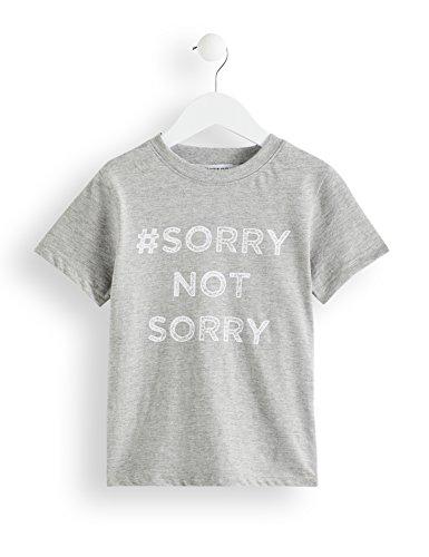 Amazon-Marke: RED WAGON Jungen T-Shirt meliert, mit Slogan-Print, Grau (Standard Grey Marl), 140, Label:10 Years