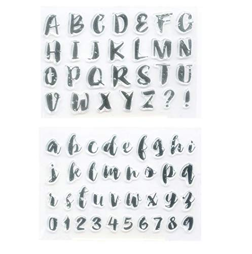 Welcome to Joyful Home 2pcs/Set Art Alphabet Rubber Clear Stamp for Card Making Decoration and Scrapbooking
