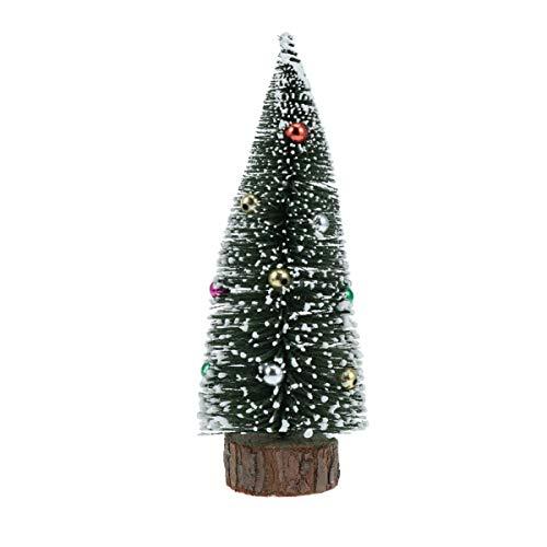 Amosfun - Adorno para árbol de Navidad en Miniatura de sisal (15 cm), Hierro, Imagen 1, 20 cm