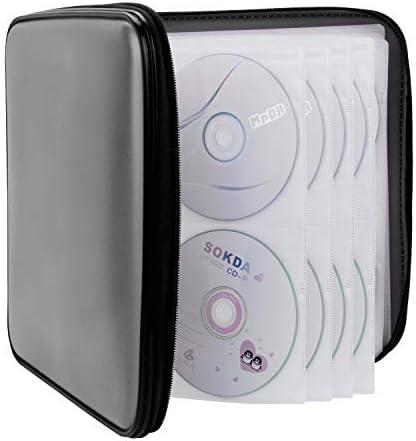CD Case COOFIT 160 Capacity DVD Case DVD Organizer CD Holder Case CD Storage Case Hard Plastic product image