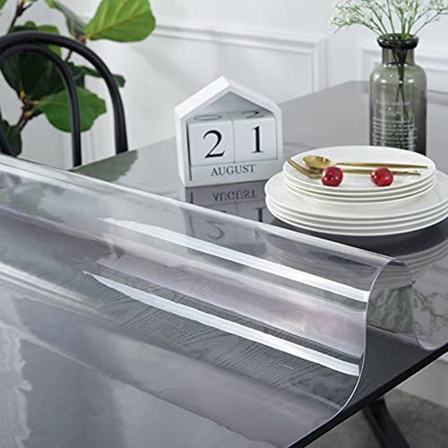 RMCF Mantel Transparente De PVC Impermeable a Prueba De Aceite Resistente a Los Arañazos Protector De Mesa Tapete De Mesa Cubierta De Mesa Tapete Protector Vidrio Suave