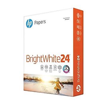HP Printer Paper   8.5 x 11 Paper   BrightWhite 24 lb  1 Ream - 500 Sheets  100 Bright   Made in USA - FSC Certified   203000R