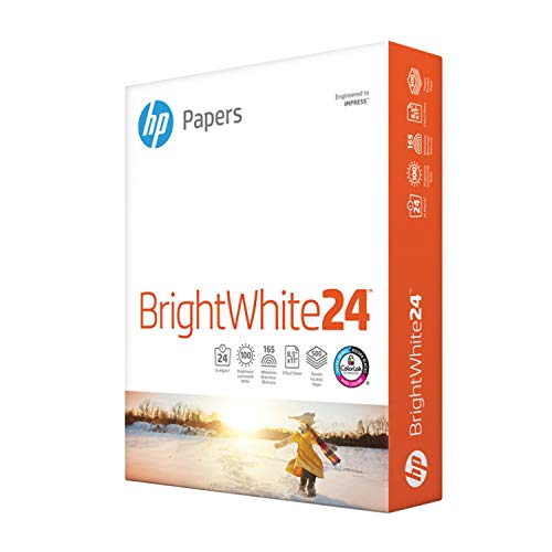 HP Papers Druckerpapier 8,5x11 BrightWhite 10,9 kg 1 Ries 500 Blatt 100 helle Made in USA FSC zertifiziertes Kopierpapier kompatibel 203000R