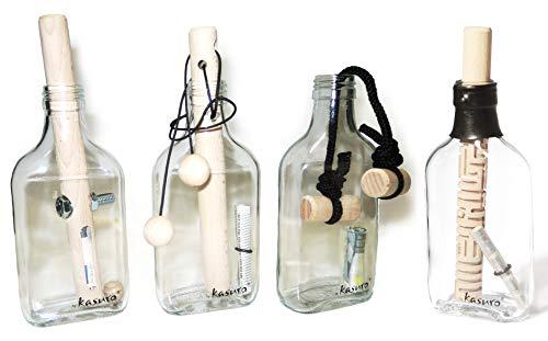 kasuro Flaschensafe Set Schraube, Schlinge, Knoten, Labyrinth
