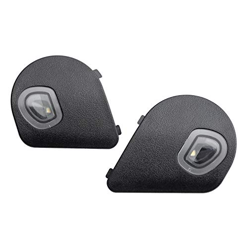 HERCOO LED Puddle Lights Left and Right Side Mirror White Lamps Smoked Lens Compatible with 2010-2018 Dodge Ram 1500 2500 3500, Pack of 2