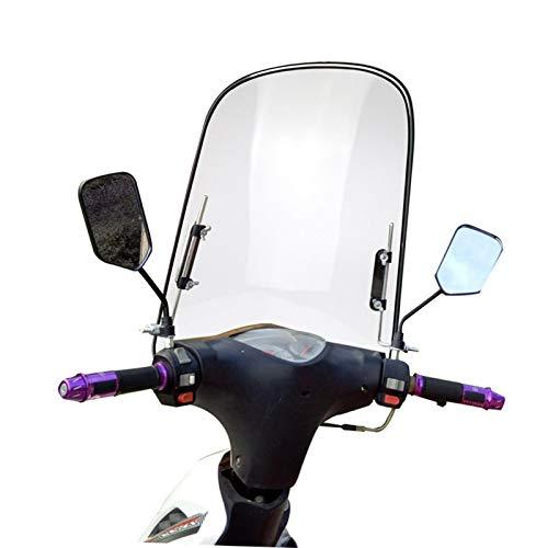Windschutzscheibe Universal, Motorrad Windschutzscheiben Spoiler, Windschild Windschutzscheibe für Motorräder Elektrische Fahrzeuge, Bruchsicheres, winddichtes, kältefestes PC-Schild 425mm X 460mm