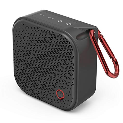 Hama Bluetooth Lautsprecher Pocket 2.0 wasserdicht (Kompakte, kleine Bluetooth Box, IPX7 Musikbox wasserfest, 14 h Spielzeit, AUX, Freisprecheinrichtung, 3.5 W, leichter Speaker mit Karabiner) schwarz