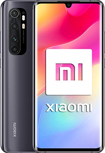 "Xiaomi Mi Note 10 Lite -Smartphone 6.47"" Curvo AMOLED FHD (6GB RAM, 64GB ROM, Quad Camera 64mpx, 5260mah Batteria, 2020 [Versione Italiana] - Colore Midnight Grey"