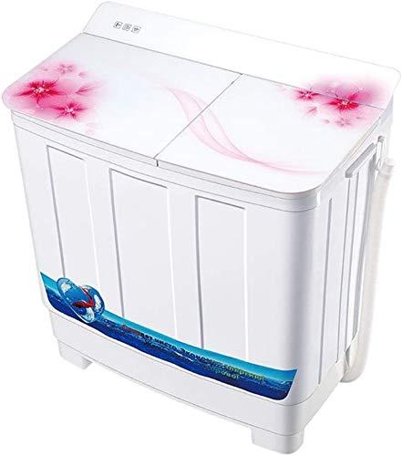 Waschmaschine Camping-Waschmaschine, tragbare Waschmaschine, Zweibettwanne Waschmaschine 18 kg Gesamtkapazität Waschmaschine und Spin Trockner, halbautomatisch mit Timing geeignet for Schlafzimmer Woh