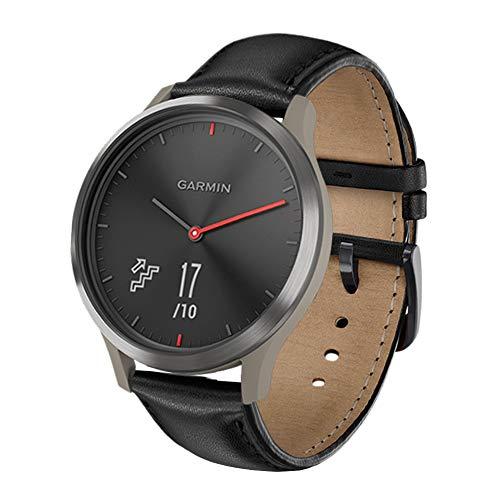 XZZTX Compatibel met voor Garmin Vivoactive 3 Horlogeband, Top lederen vervangende riemen Polsbanden voor Vivoactive 3 / Vivomove HR Smartwatch