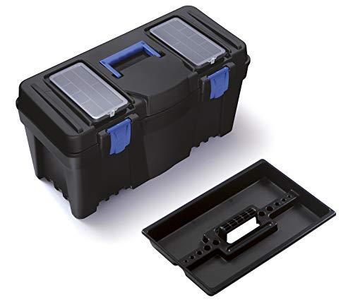 Prosperplast Werkzeugkoffer Caliber (leicht und robust, Tragegriff und Klickverschlüsse; 597x285x320mm; max. 21kg) N25S