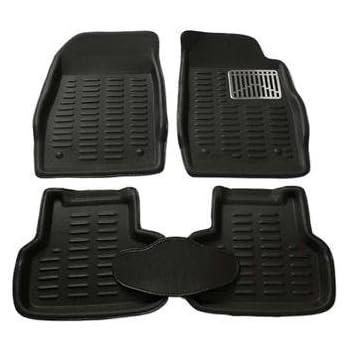New Tech Traders Premium Quality car mat 3d car foot mat 3d car floor mat (Black) for Mahindra Bolero