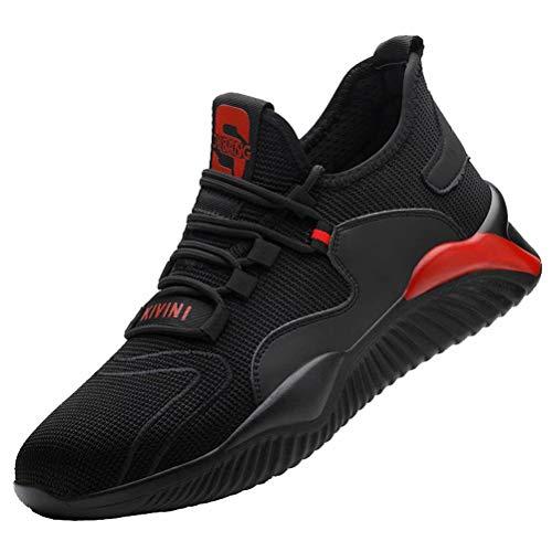 Zapatillas de Trabajo Hombre S3 Mujer Puntera de Acero Anti-aplastante Comodo Zapatos de Seguridad Transpirable
