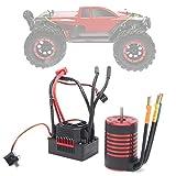 Lantuqib RC-Motor-Regler-Set, Metall-Niederspannungs-Abschaltschutz Starker Stromwiderstand 3100KV Brushless-Motor für RC-Spielzeug für RC-Auto für RC-Modell für Spiele