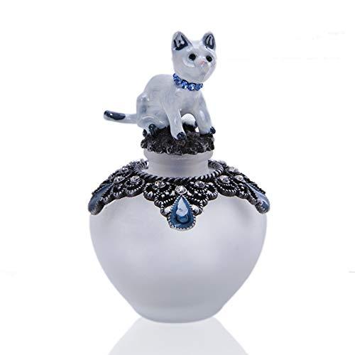 AMYHY Nette Katze-Form-Glasduftstoff-Flaschen leeren Dekor nachfüllbare Mini Leere Flasche Ätherisches Öl-Flaschen for Dresser Tischdekoration, Geschenke,...