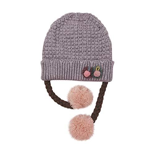 Sunnymi - Gorro de punto para bebé, diseño de dibujos animados, para otoño e invierno gris Talla única