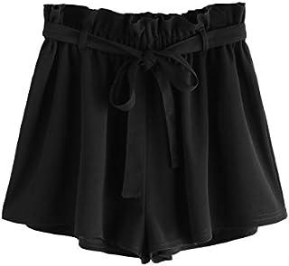 Romwe Women's Casual Elastic Waist Summer Shorts Jersey...