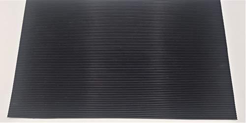 Gummi Schubladeneinlage für HOLEX Werkstattwagen Vollauszug 7 Schublagen (914705, 914710), rutschfestes Gummi, Werkstattwagenzubehör, Maße: 410x530mm, Feinriefenmatte