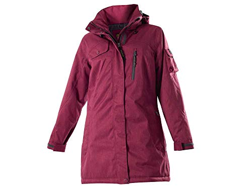 OWNEY OUTDOOR Damen Thermojacke Mantel Arctic Schwarz-Rot (S, Berry Cherry)