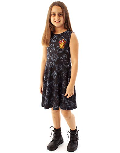 Harry Potter Gryffindor Crest Girl'S Skater Dress (9-10 Years)