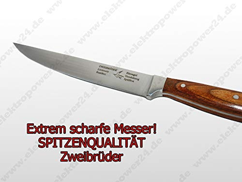 Original Zweibrüder Küchenmesser 2154 aus Edelstahl mit USA Paaka-Uolz