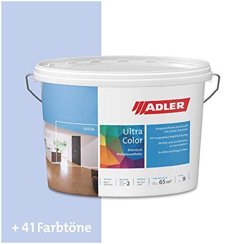 ADLER Ultra-Color Wandfarbe - Volltonfarbe und Abtönfarbe in 100+ Farbtönen - Blue Sky C12 054/4 Blau 1 l Atmungsaktiv, Hochdeckend, Lösungsmittelfrei