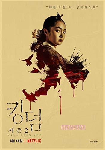 Traje Coreano Zombie TV Teatro Reino Estilo Retro decoración de la Pared Familiar Impresiones Cartel de Papel 50x70cm No Frame PQ-1681